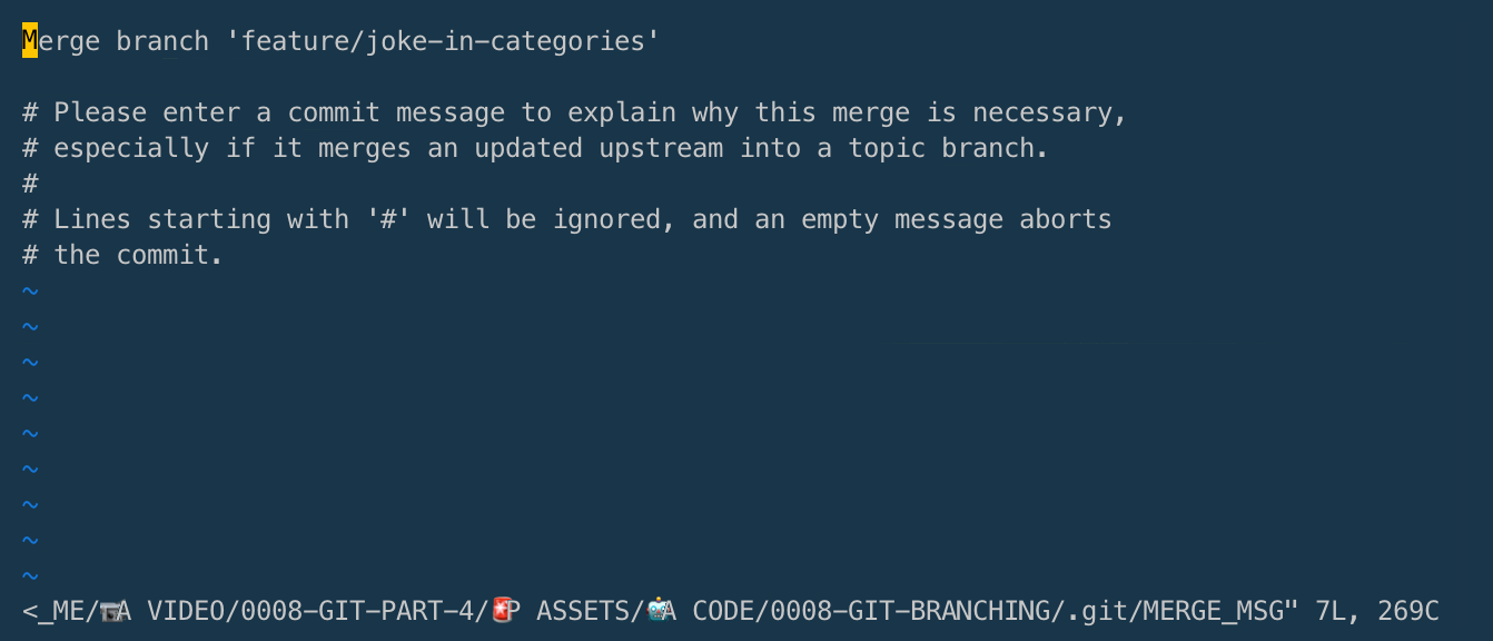 Merge Branch within the Terminal