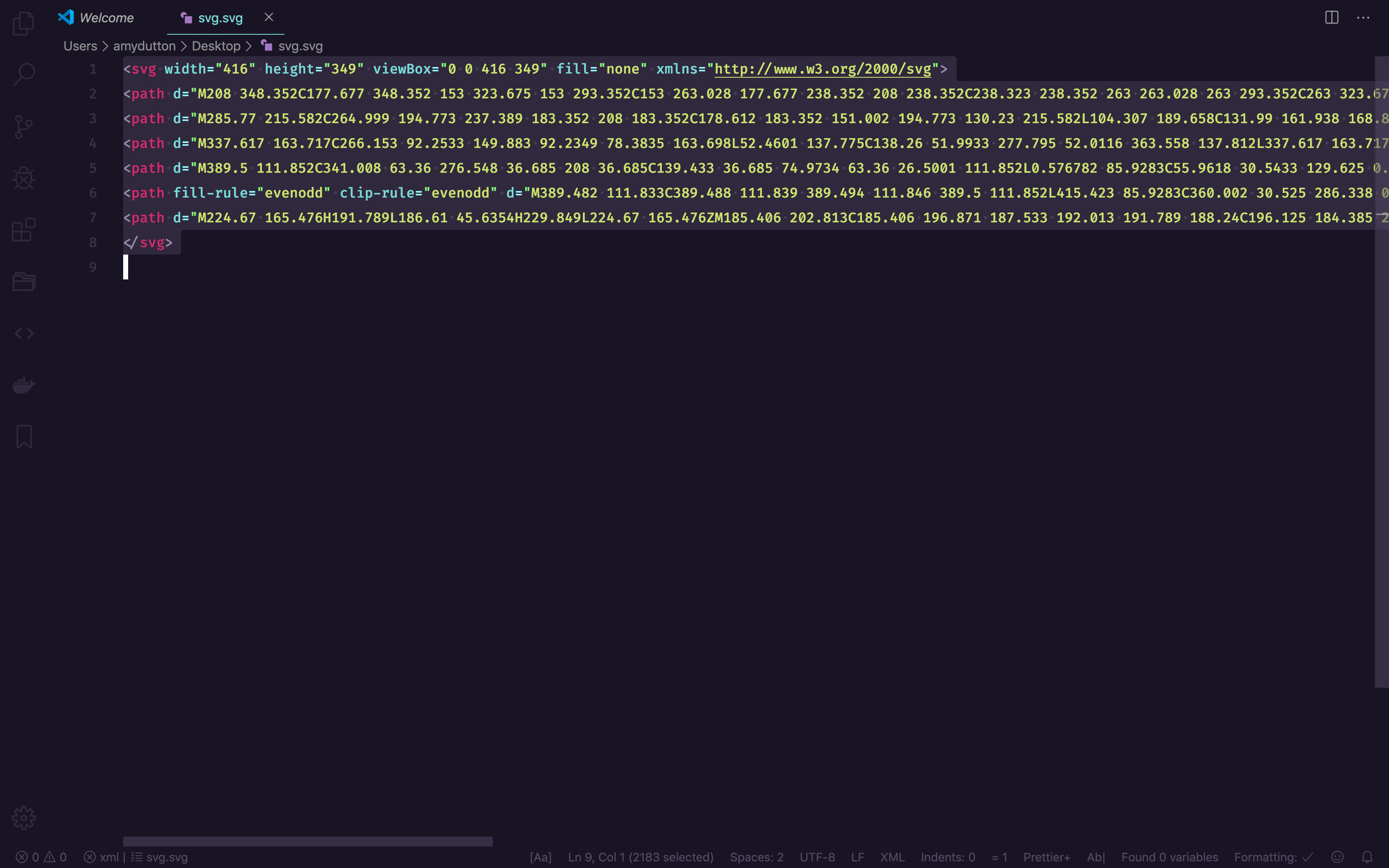SVG within VS Code