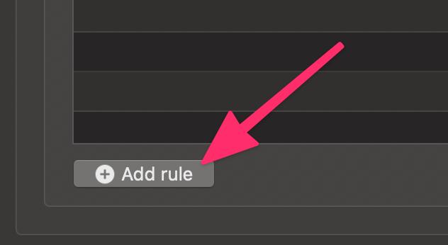 Add Rule Button