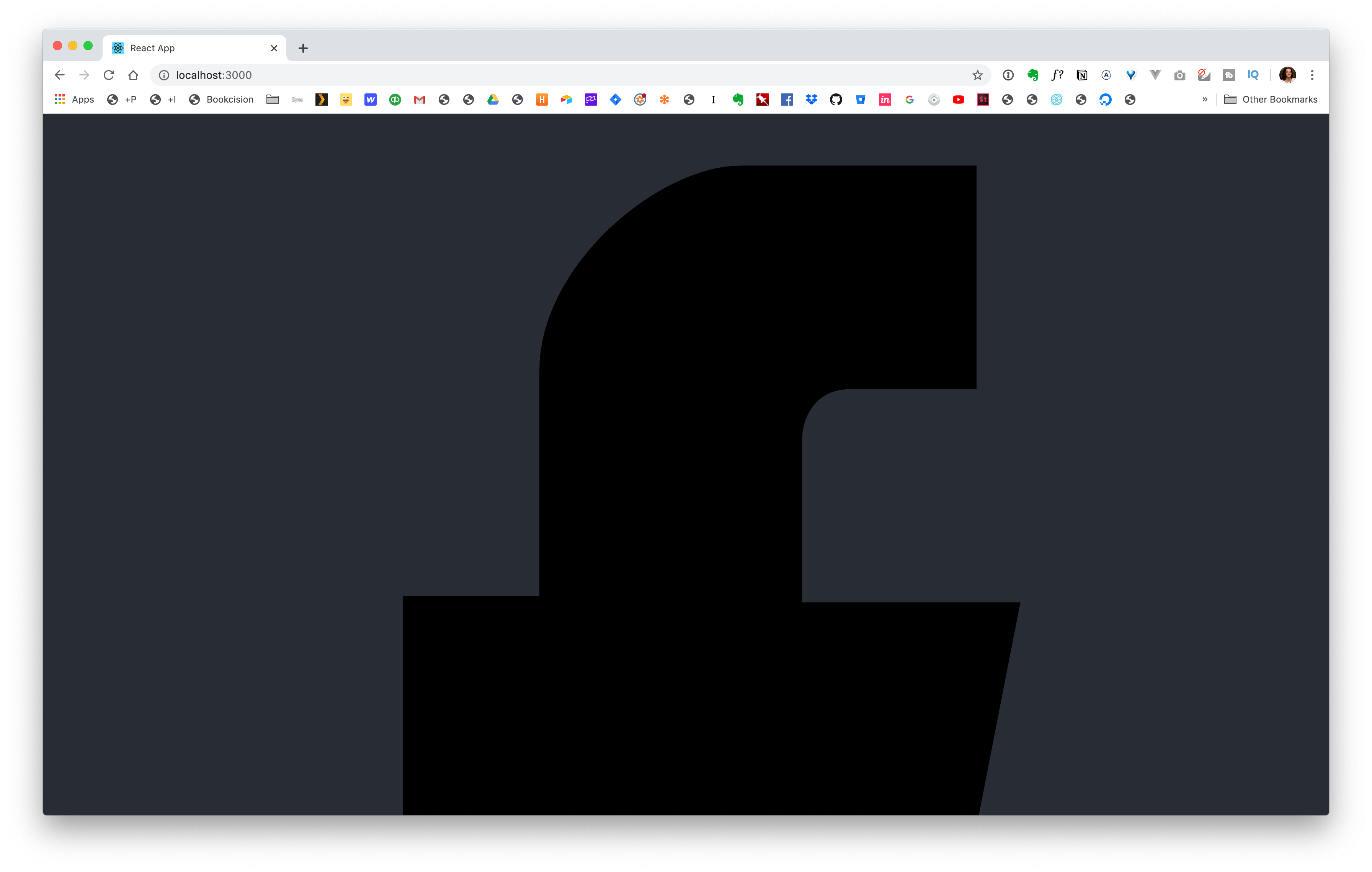 Facebook icon in Browser