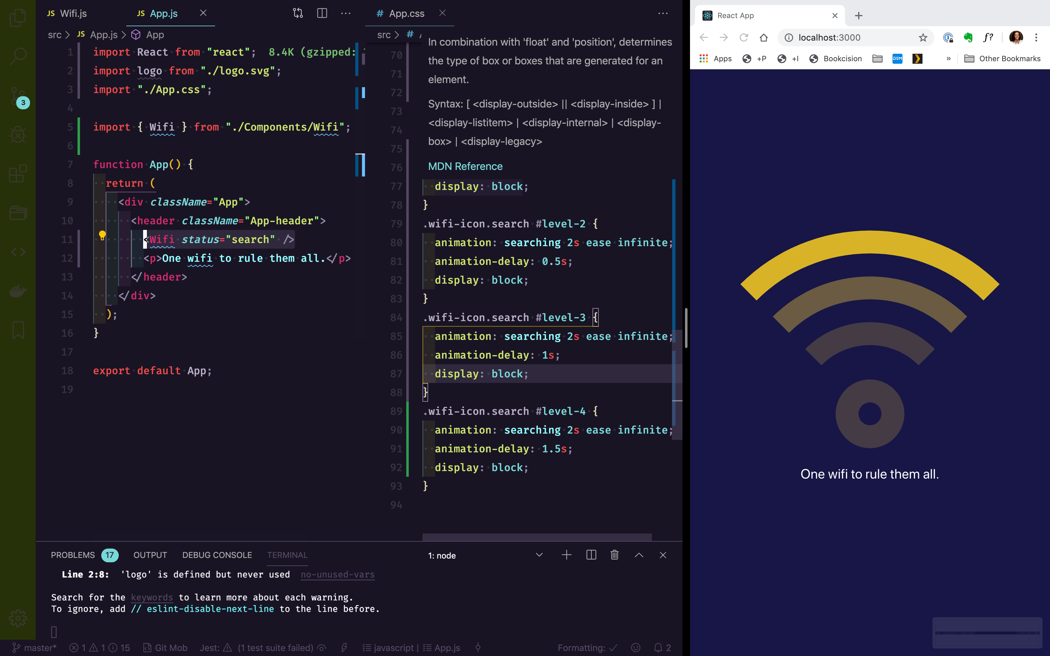 Search for wifi within the browser