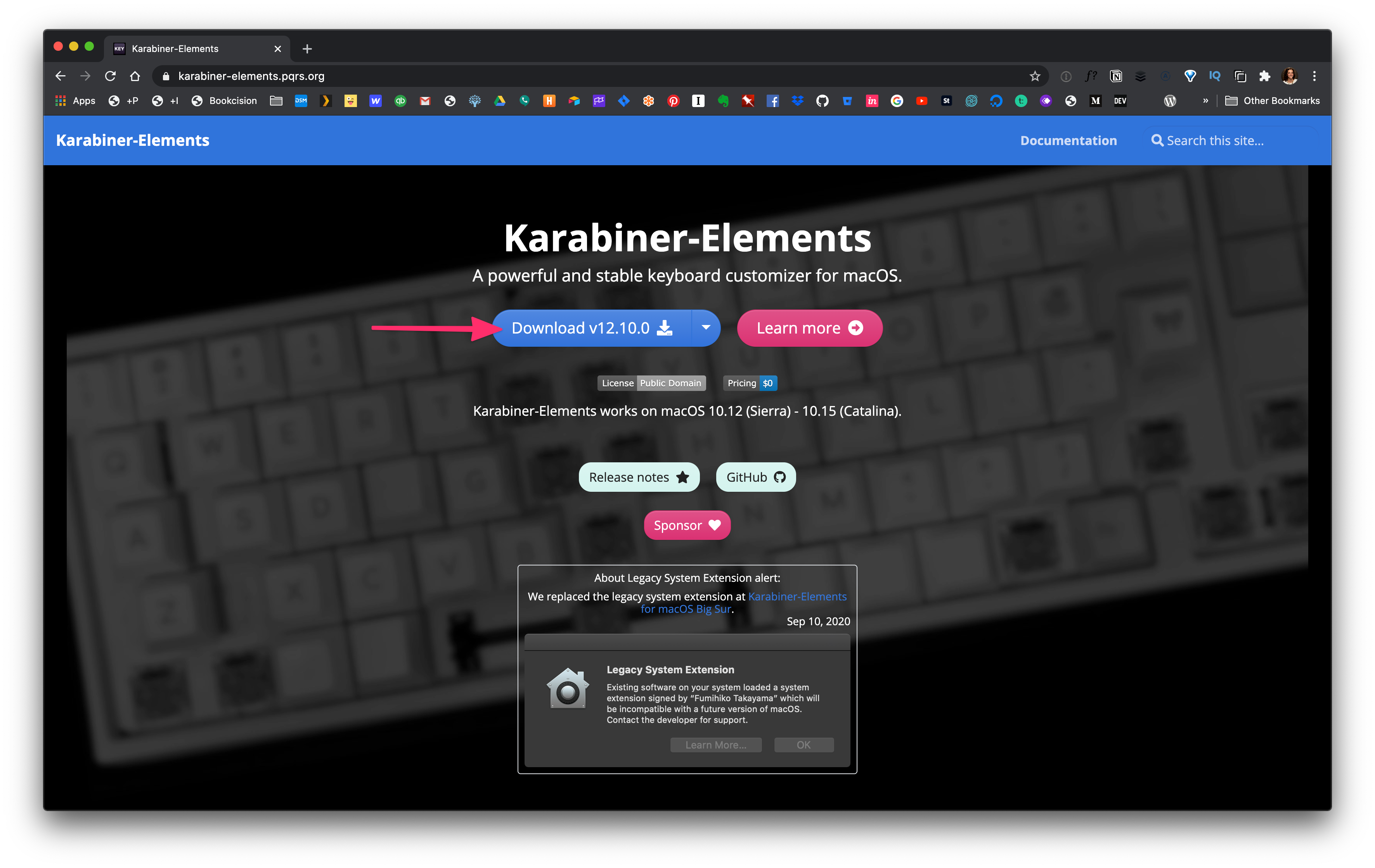 Downloading Karabiner Elements