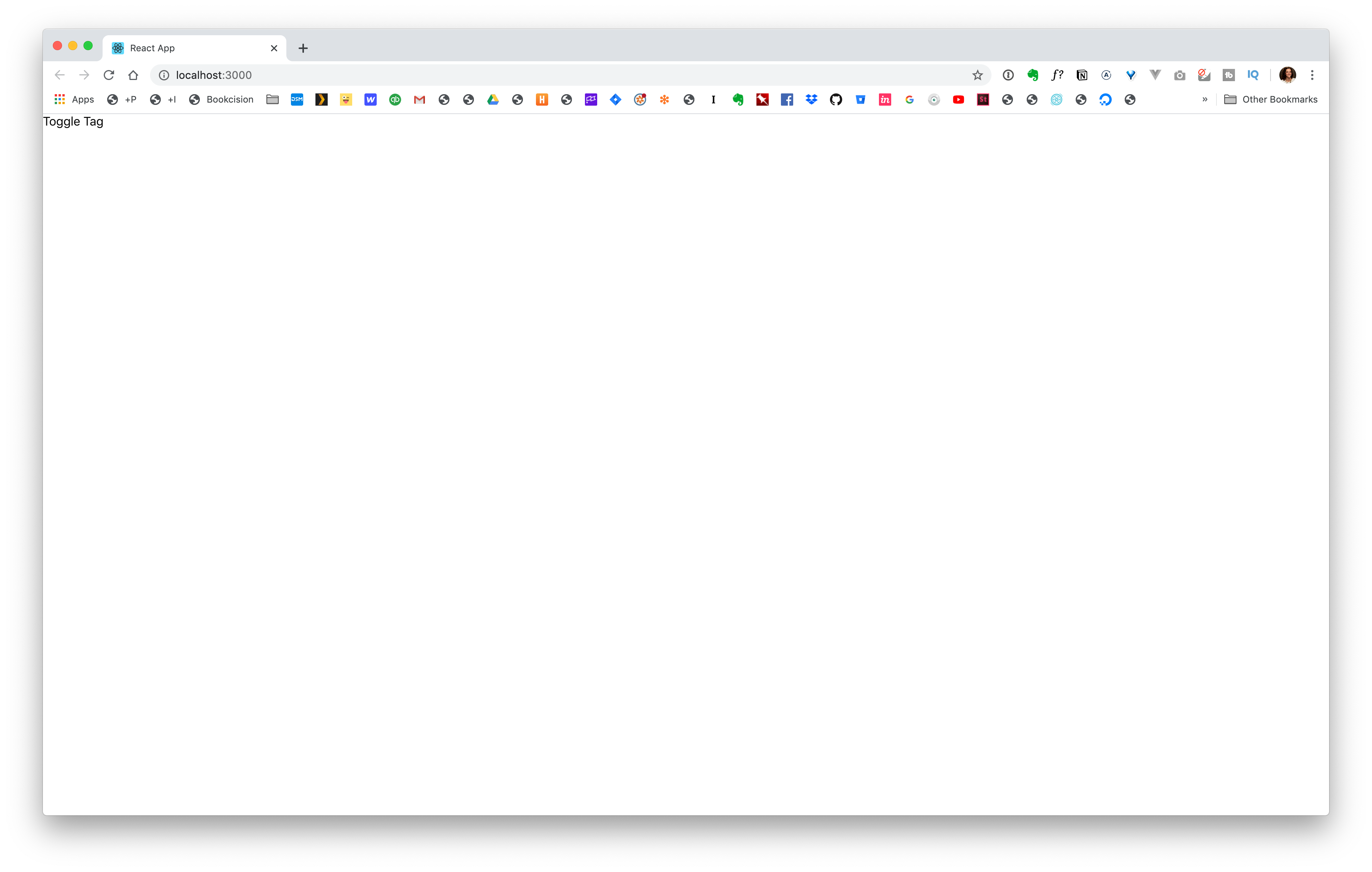Toggle Tag Component in Browser