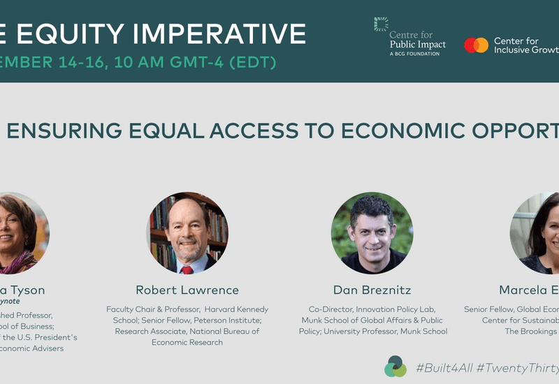 Recording: The Equity Imperative Day 2 | Ensuring Equal Access to Economic Opportunity