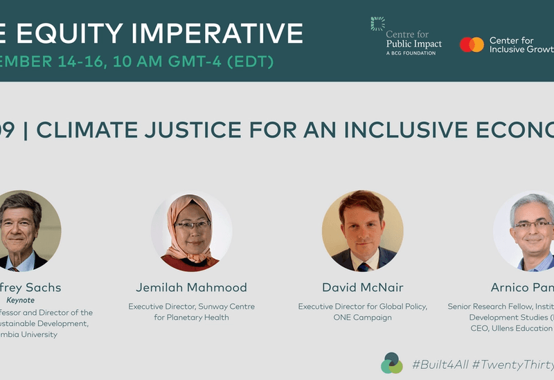 Recording: The Equity Imperative Day 3: Climate Justice for an Inclusive Economy
