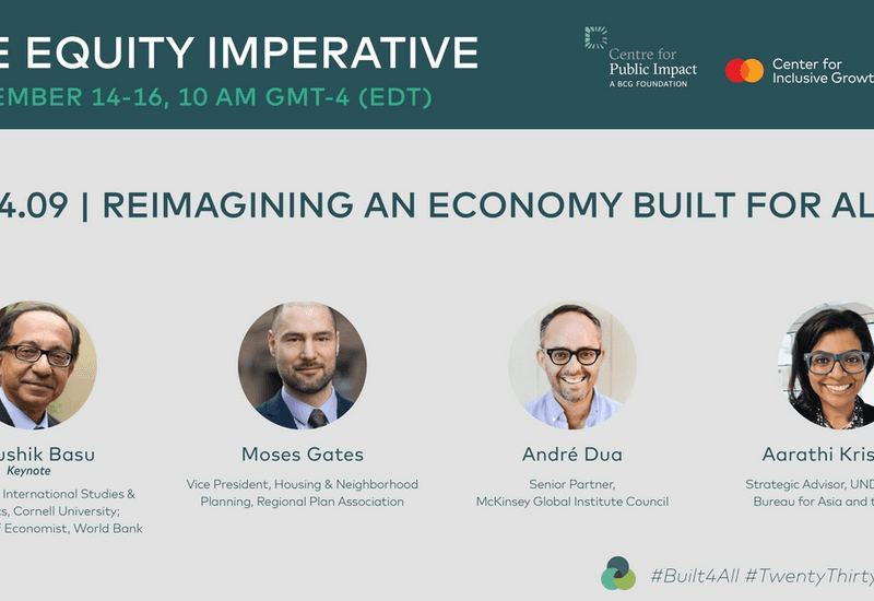 Recording: The Equity Imperative Day 1 | Reimagining an Economy Built for All