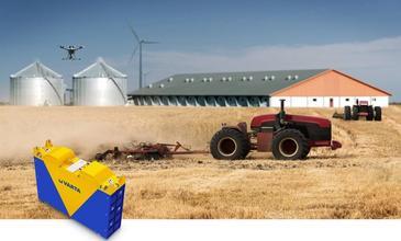 Des batteries lithium rechargeables pour alimenter la robotique agricole
