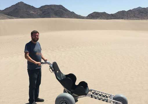 How big is the X3 off-road beach wheelchair?