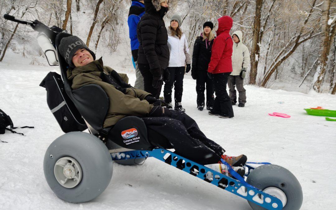 Off-road Wheelchair Sledding