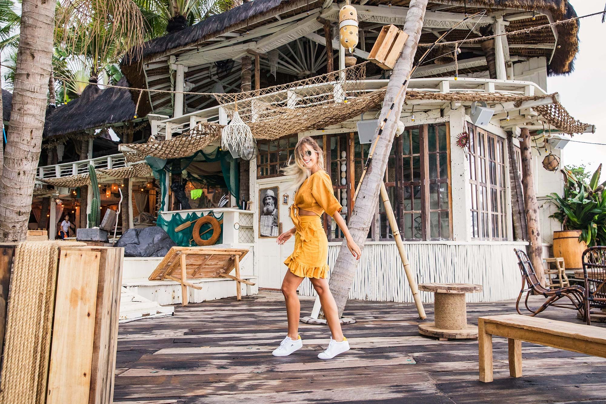 Bared_Footwear_La_Brisa_Bali_Travel_Summer_Womens_Campaign_Sandpiper_Sneakers_Yellow_Dress