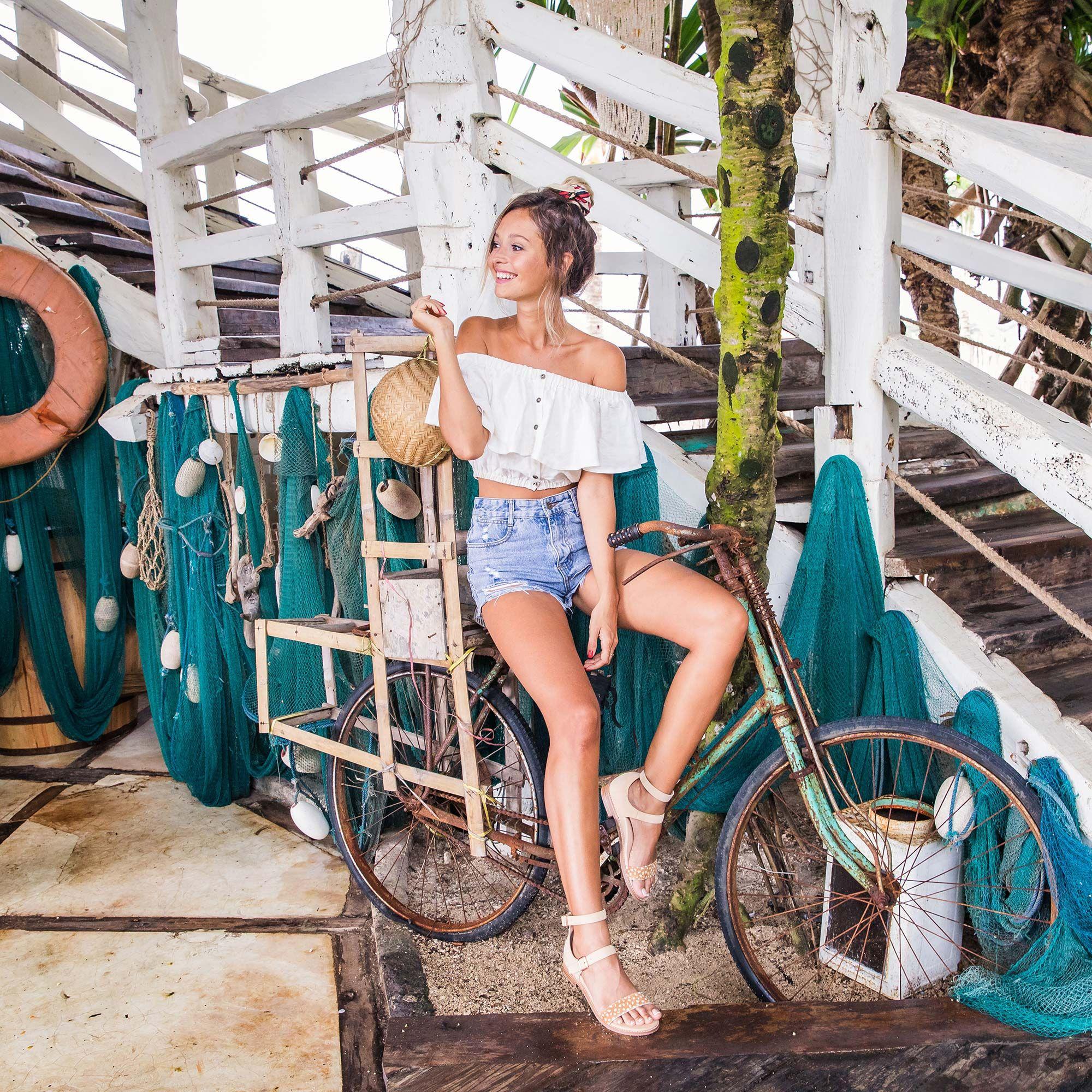 Bared_Footwear_La_Brisa_Bali_Travel_Summer_Womens_Campaign_Aracari_Deer_Print_Sandals_Bicycle