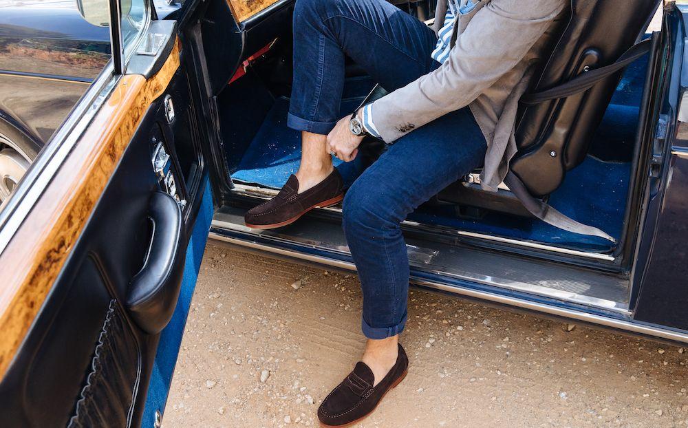 Bared_Footwear_Mens_Nickel_Chocolate_Suede_Loafers_Rolls_Royce