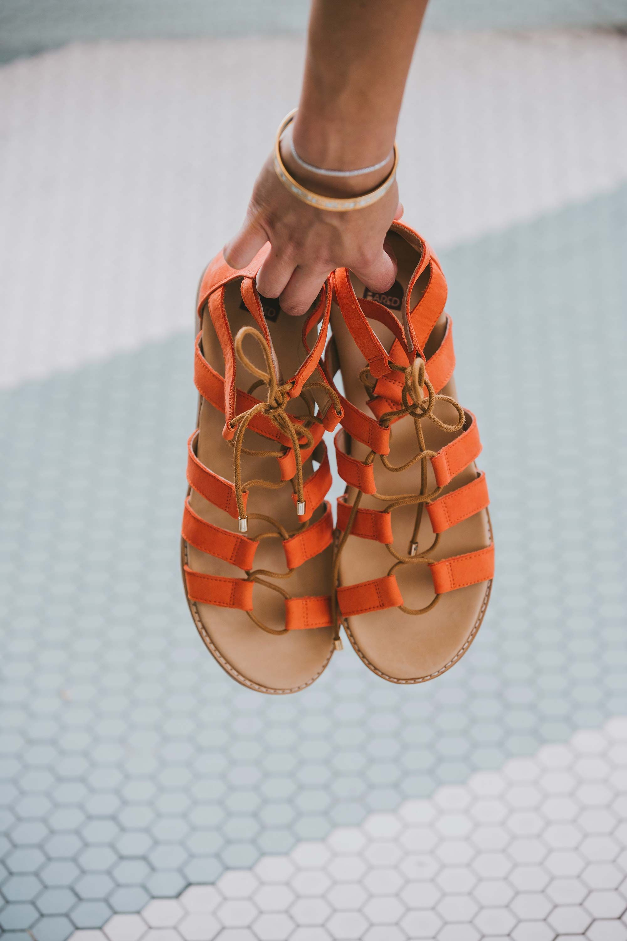 Bared_Footwear_Engagement_Party_With_Lenzo_Womens_Goose_Tangerine_Nubuck_Lace_Up_Sandals