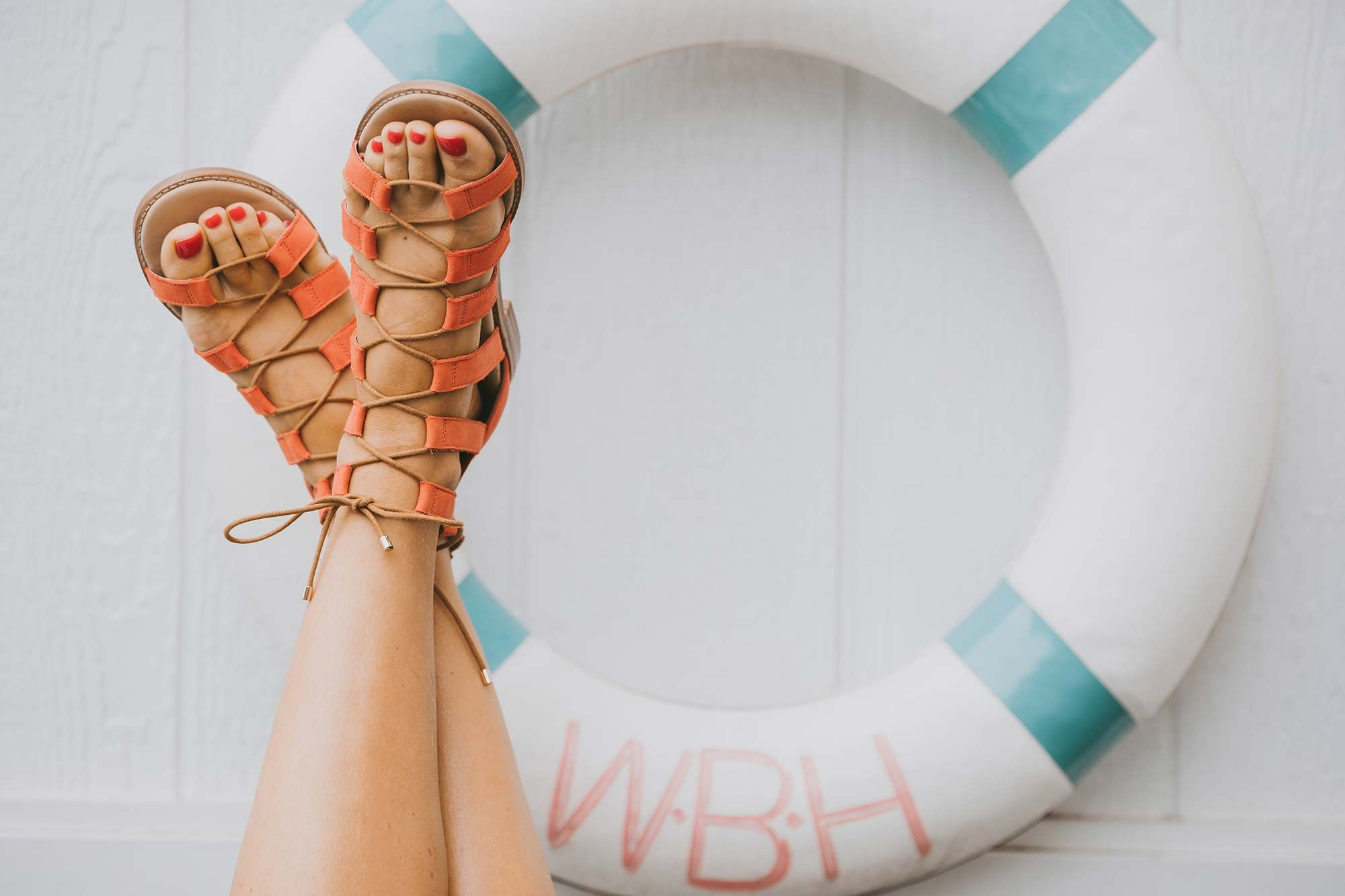 Bared_Footwear_Engagement_Party_With_Lenzo_Womens_Goose_Tangerine_Nubuck_Sandals_Buoy