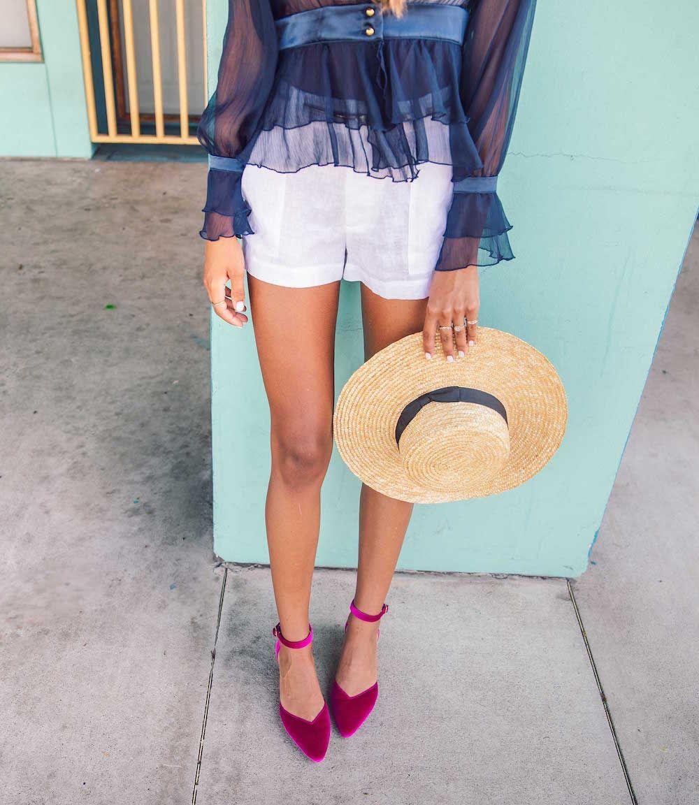 Bared_Footwear_Womens_Rhea_Magenta_Low_Heels_Straw_Hat_LA_Summer