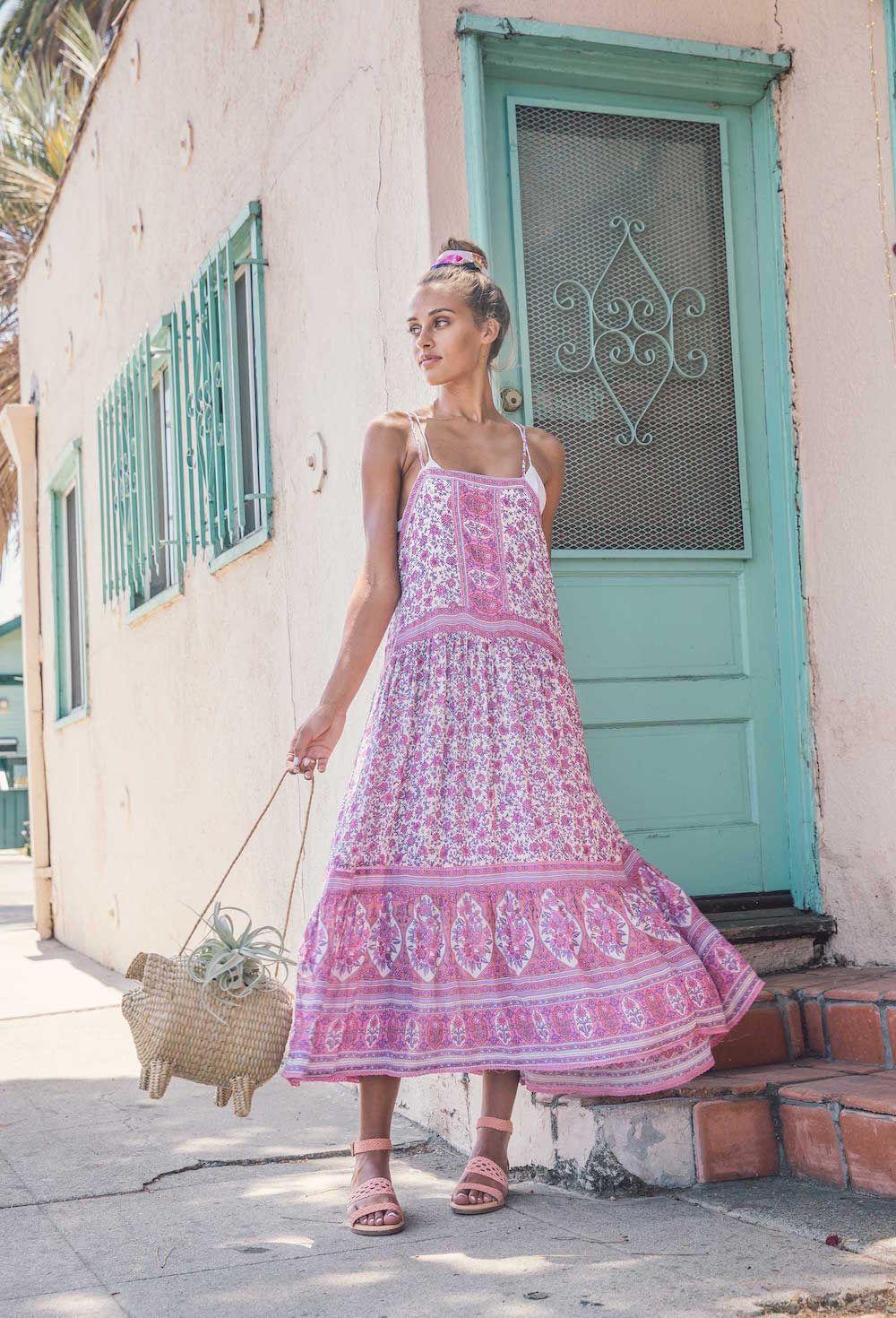 Bared_Footwear_Womens_Pink_Linnet_Sandals_Pink_Dress_LA_Summer