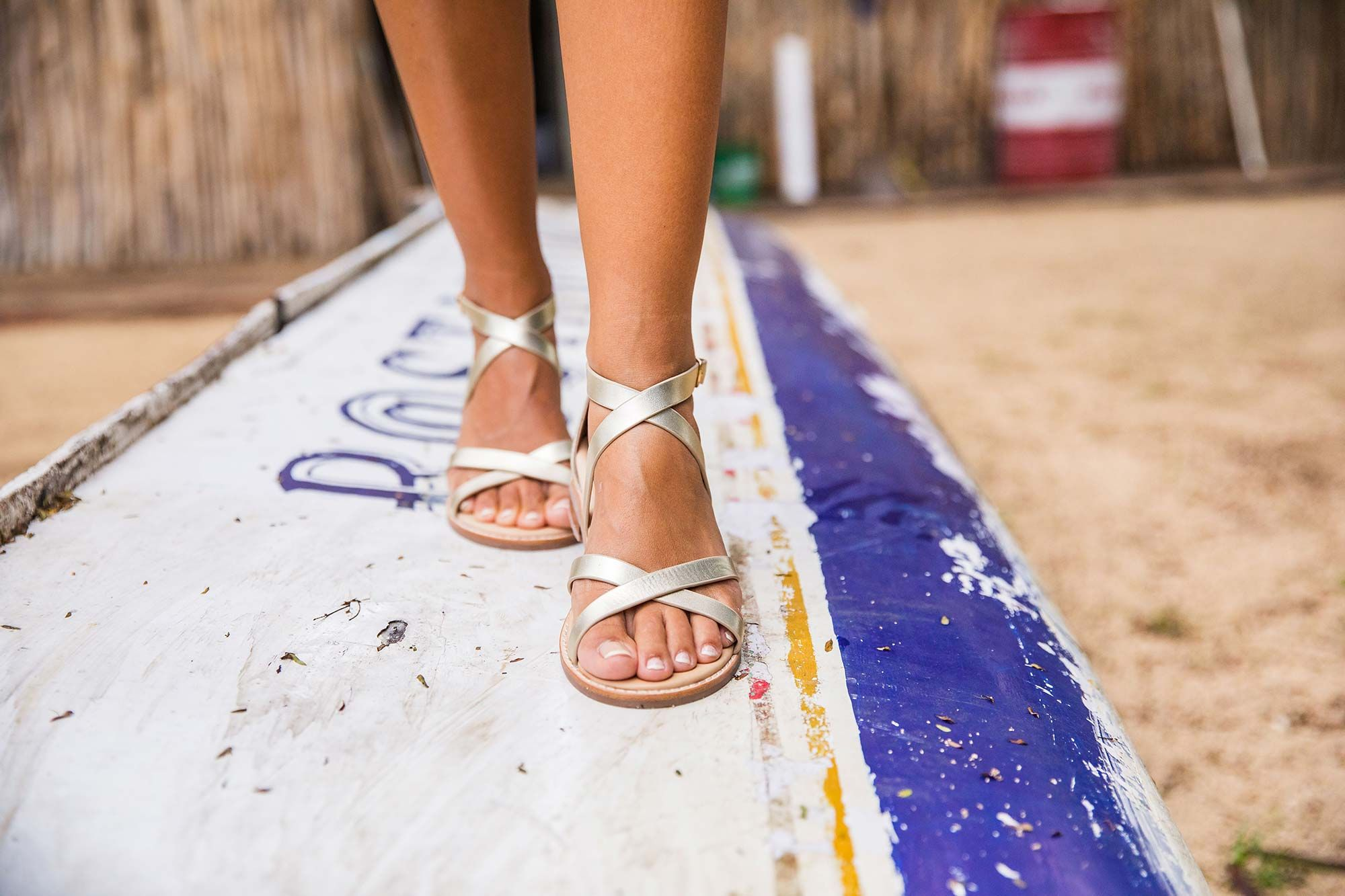 Bared_Footwear_La_Brisa_Bali_Travel_Summer_Womens_Campaign_Loon_Gold_Leather_Sandals_Up_Close