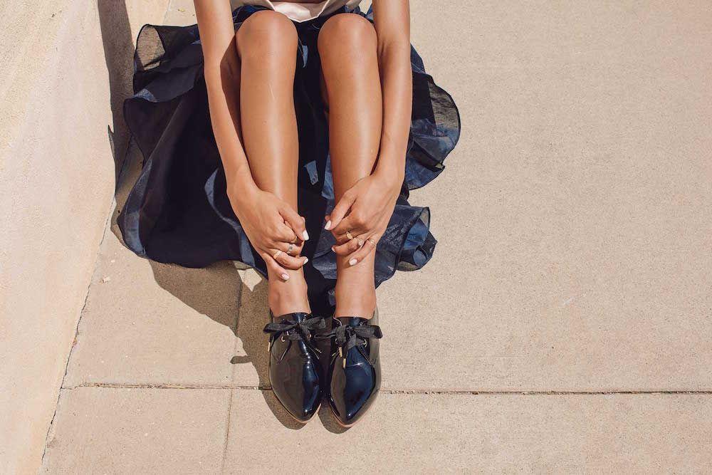 Bared_Footwear_Womens_Dunlin_Black_Lace_Ups_LA_Summer_Close_Up