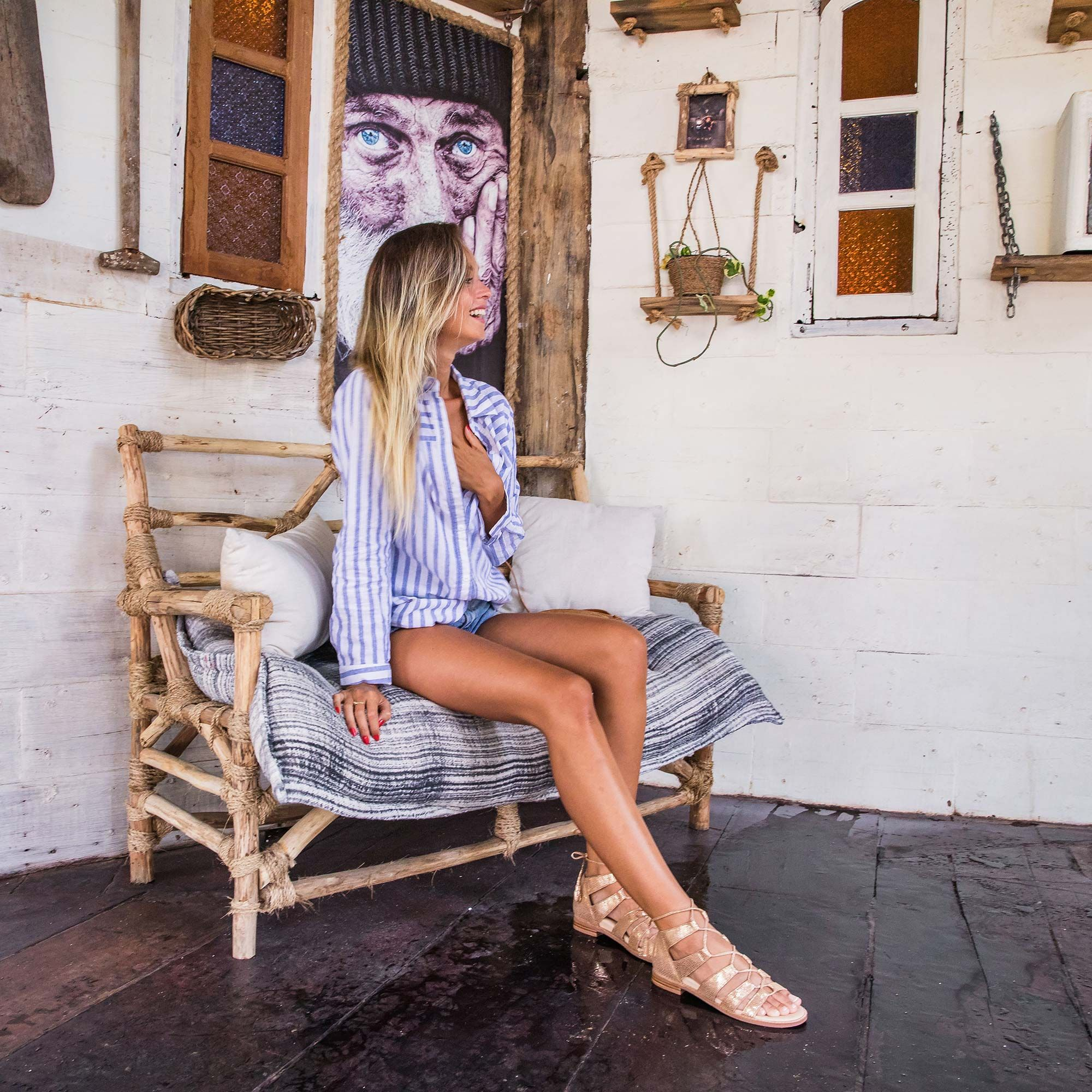Bared_Footwear_La_Brisa_Bali_Travel_Summer_Womens_Campaign_Toucan_Rose_Gold_Lace_Up_Sandals