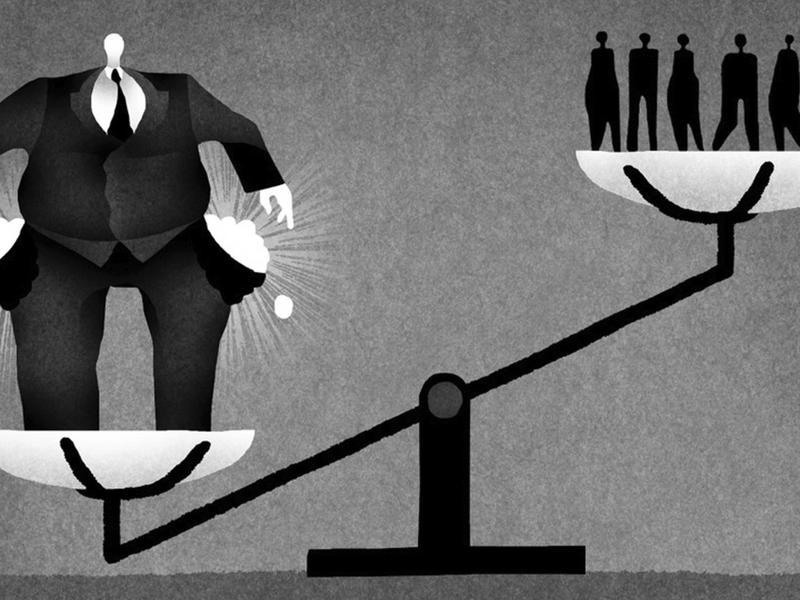 Desigualdade social no capitalismo. Imagem de charterforcompassion.org