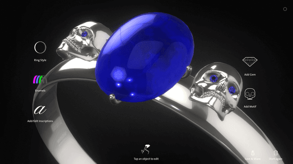 Image of a ring created with the V&A Design a Ring app.