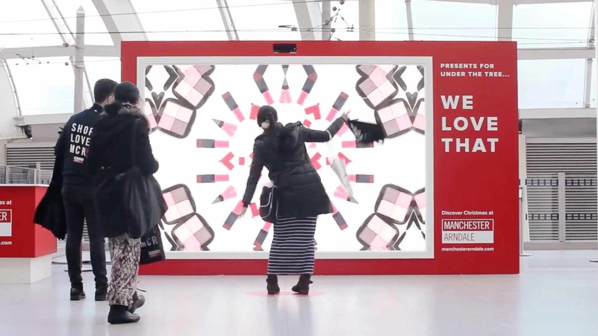 Image of the interactive installation