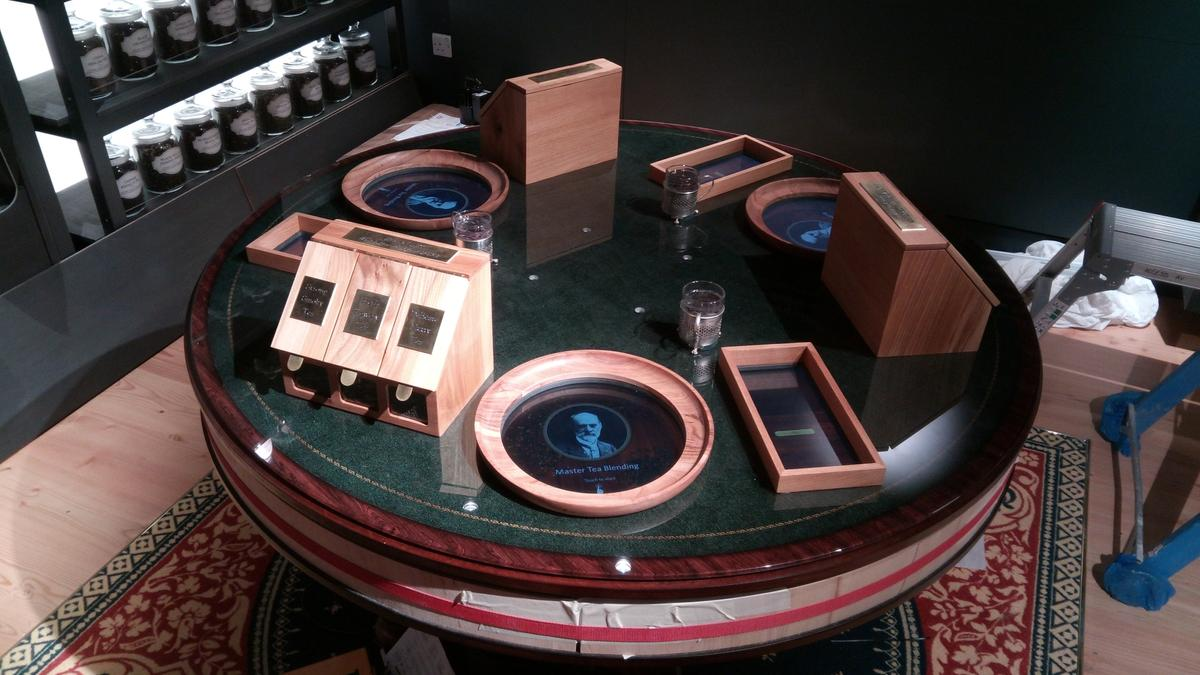 Interactive tea blending tables