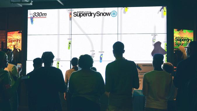 Snowboarding for the Superdry flagship store