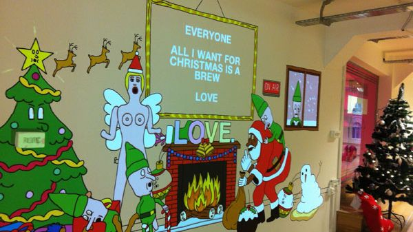LOVE Creative's 2012 Interactive Xmas Projection