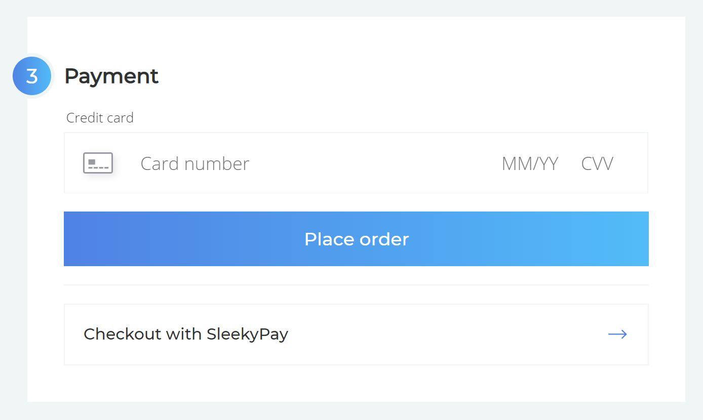 Cart payment step