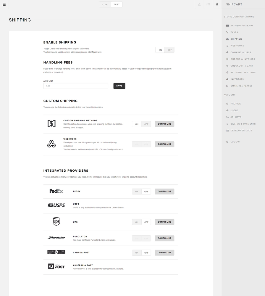 snipcart-docs-dashboard-shipping