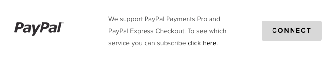 Connect PayPal