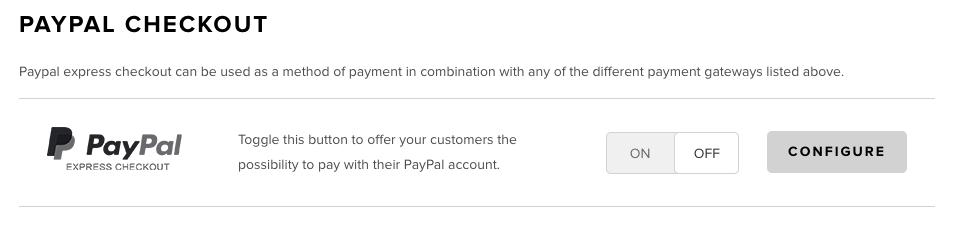 PayPal Express Checkout Switch