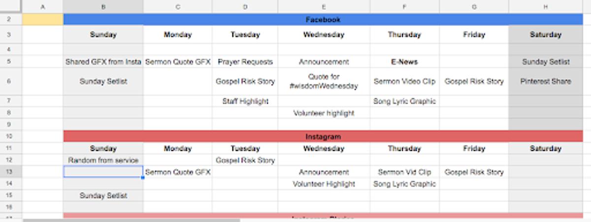 value of a content calendar