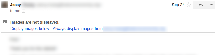 Email with popup: Images are not displayed