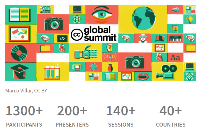 The Creative Commons Summit attracted over 1300 participants and 140 sessions