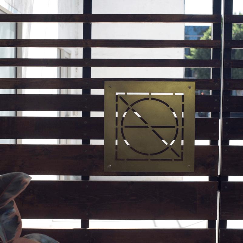 Ronan stencil signage