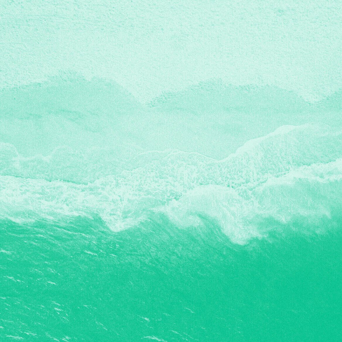 Photo of a wave with applied by Humankind brand filter