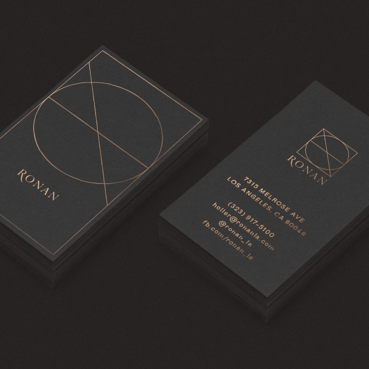 Ronan business cards