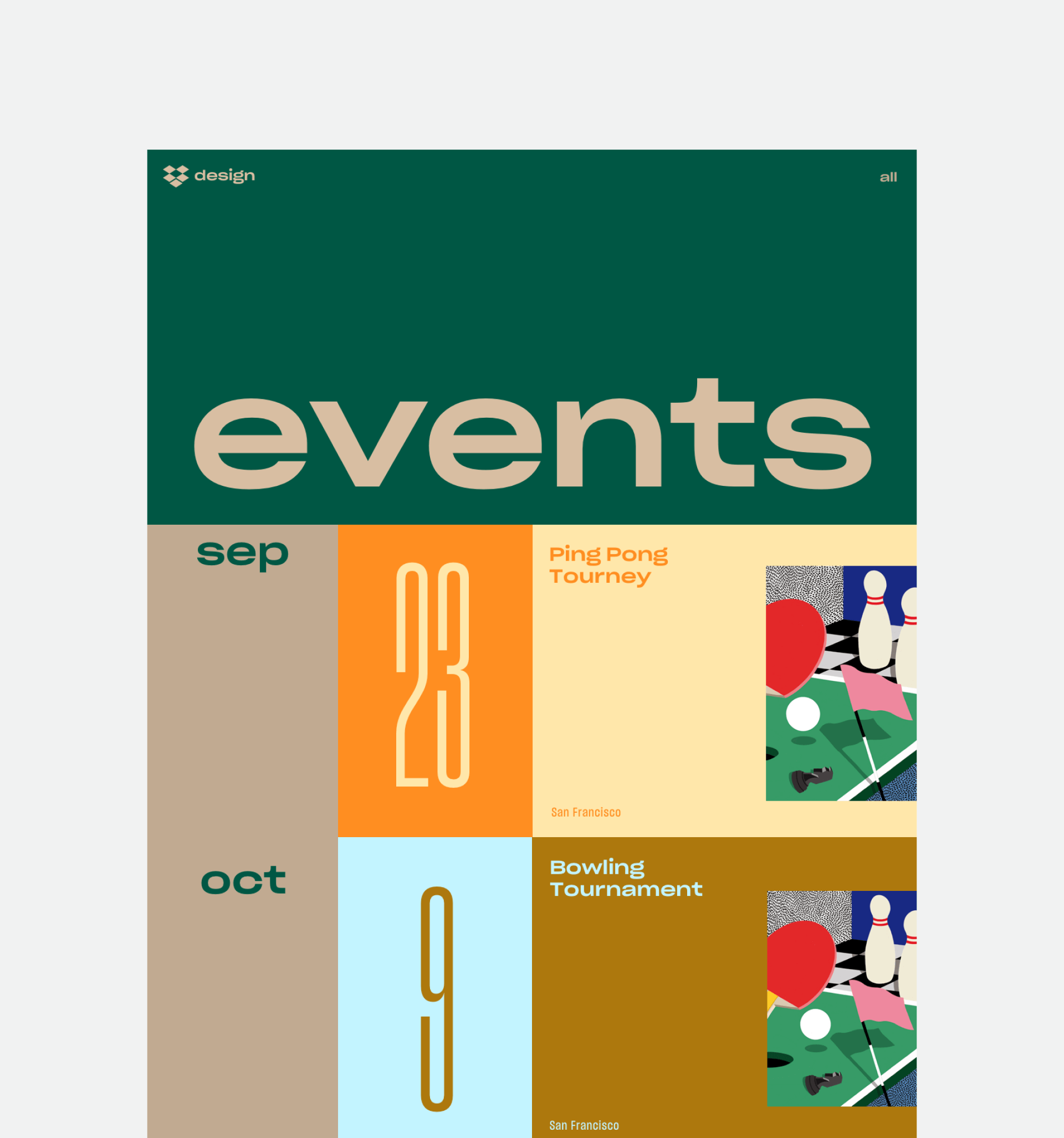 Dropbox events page