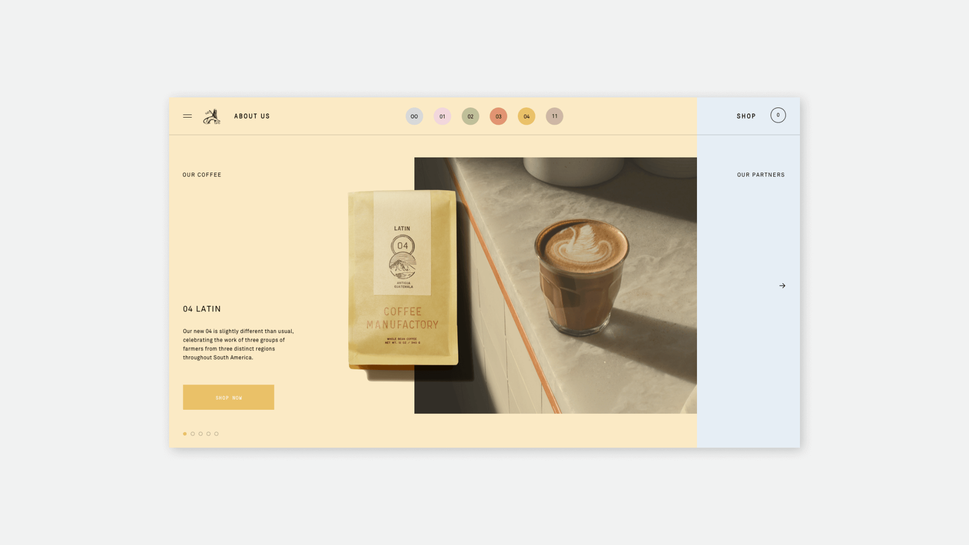 Coffee Manufactory Homepage