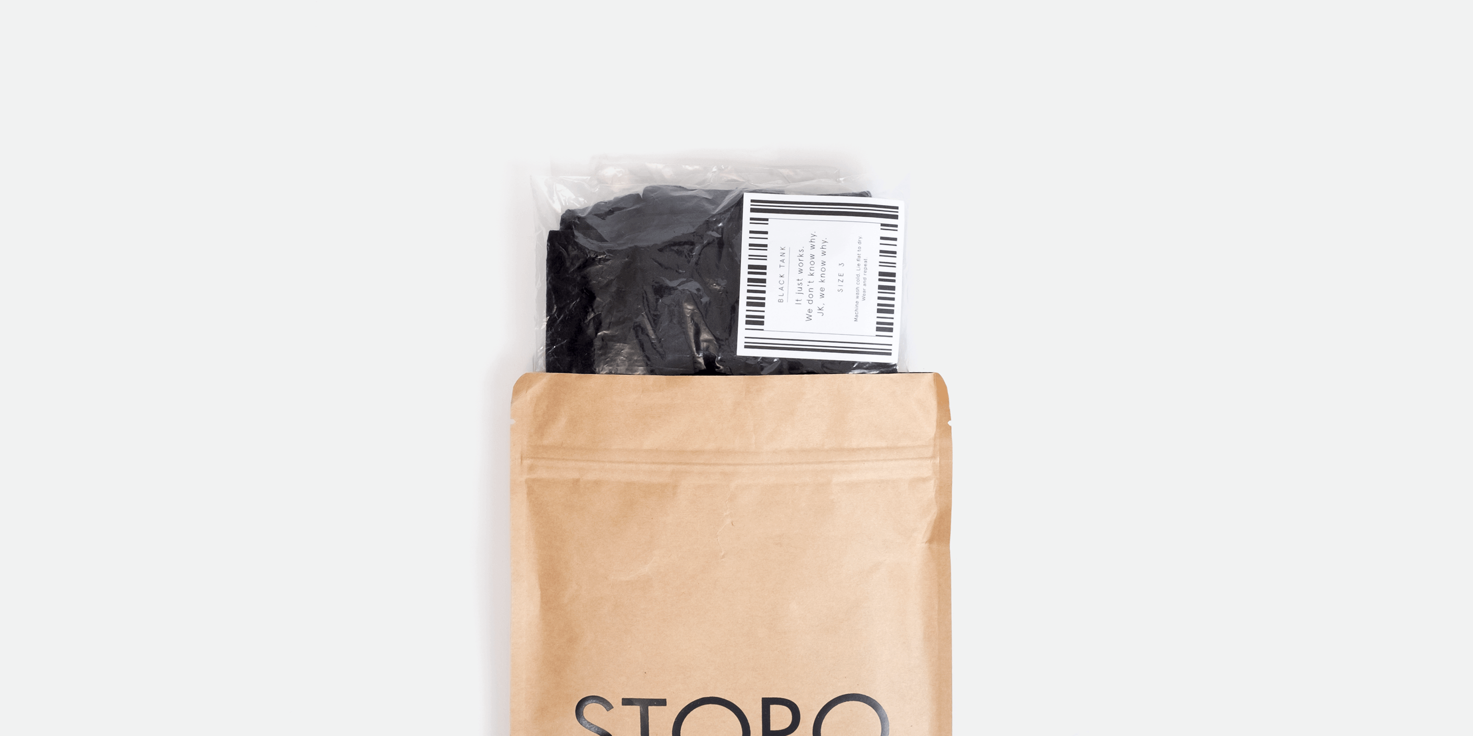 Top view of Storq package
