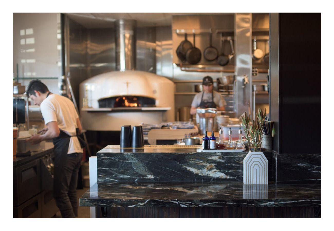 Photo of the restaurant's kitchen