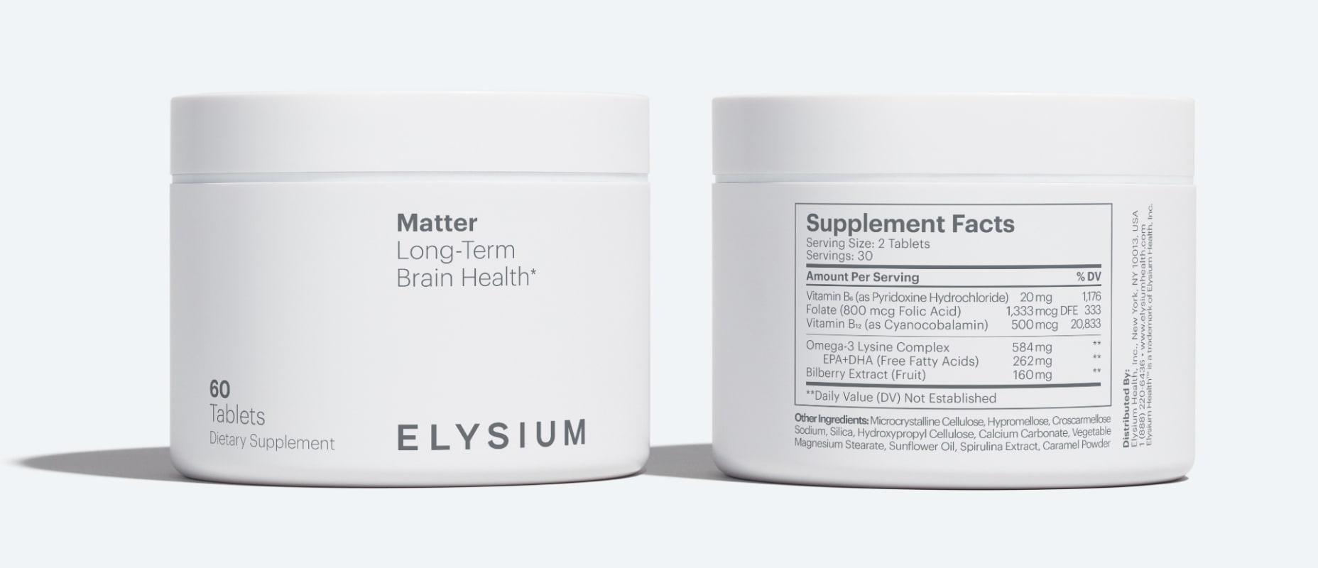 Matter Supplement Facts
