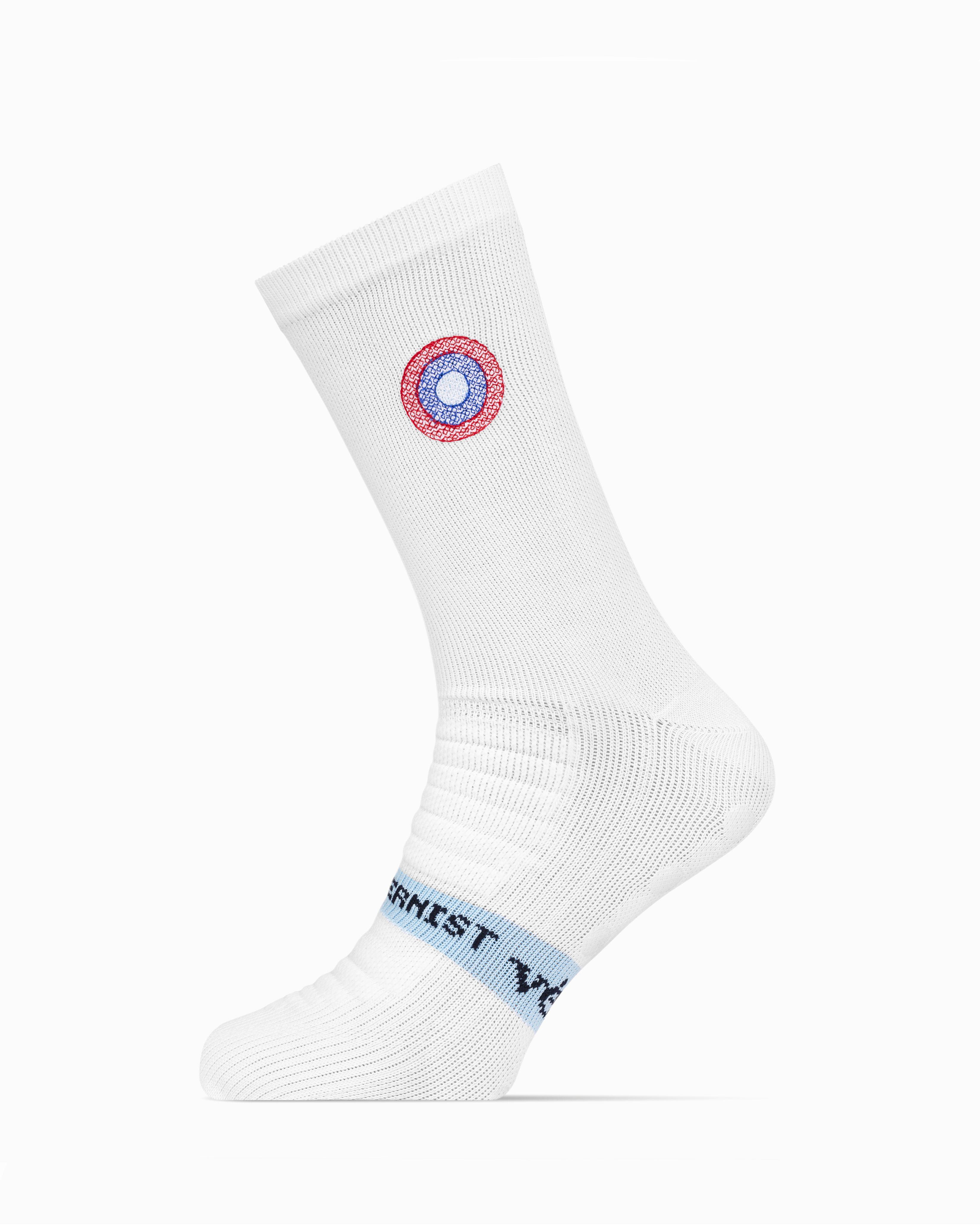 Modernist PremGripp Socks (White/Navy)