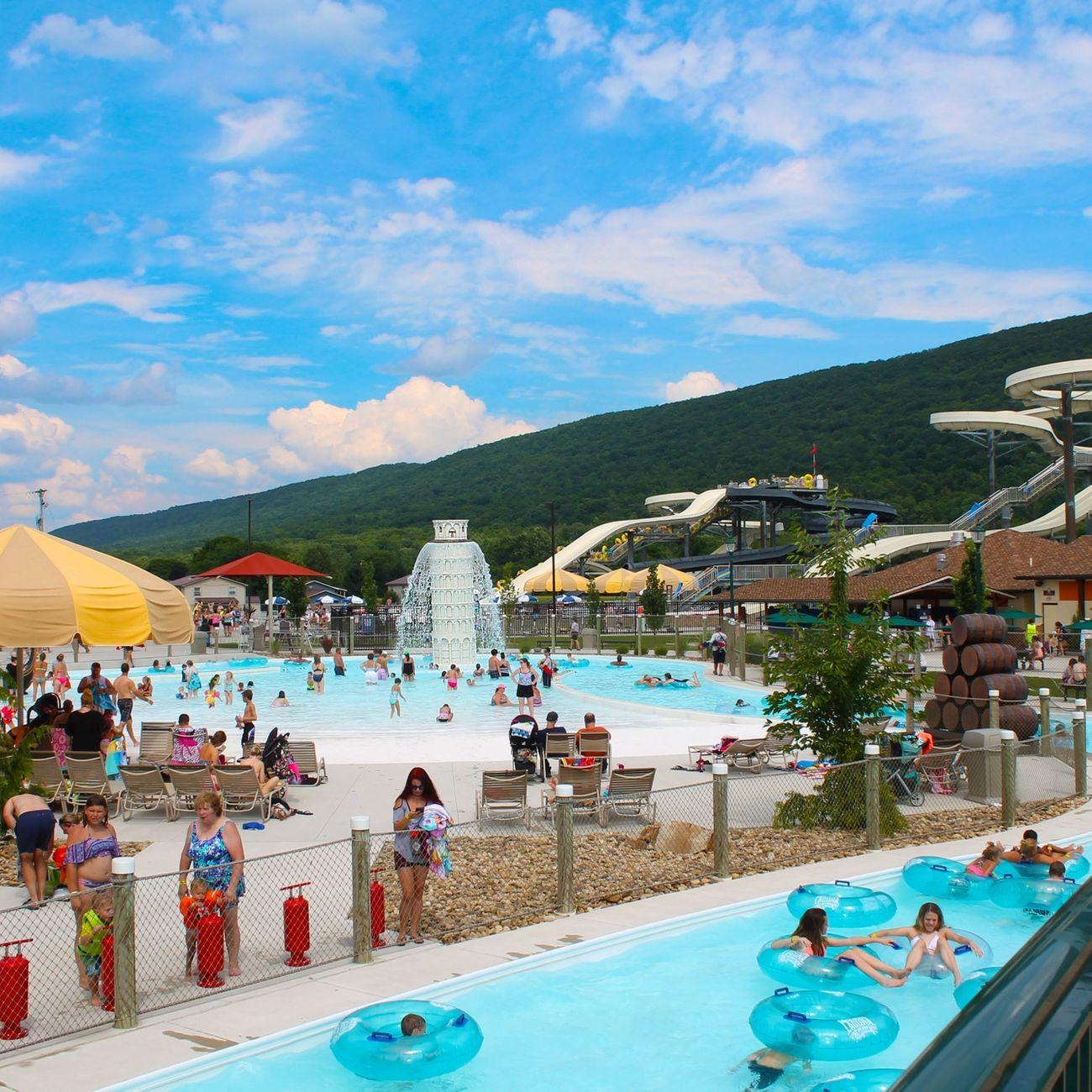 Image of people enjoying a sunny day at the Laguna Splash Water Park