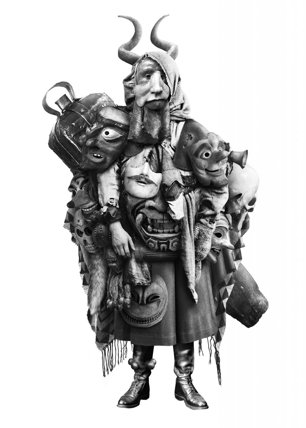 Kunstwerk Der Maskenhändler von Steve Braun