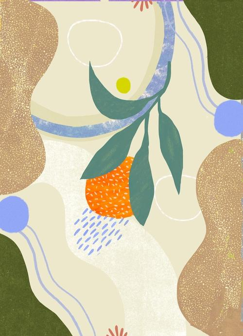 artwork Orange at the Beach from Anja Bartelt