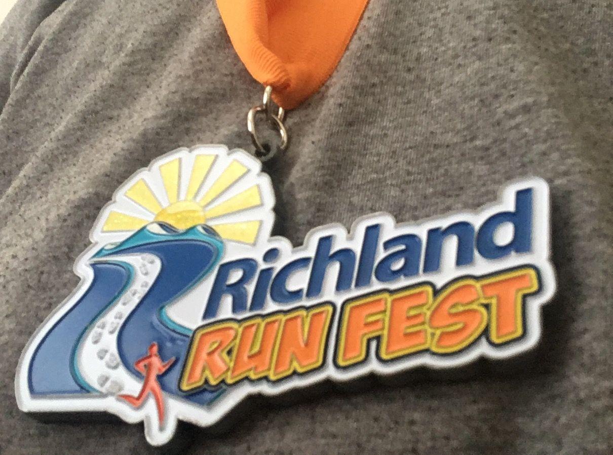 Richland Runfest medal
