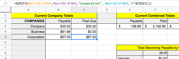 screenshot of report columns with sample data values